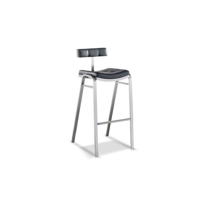 tabouret bar cuisine en inox bross hauteur assise 75cm barcelona achat vente tabouret de. Black Bedroom Furniture Sets. Home Design Ideas