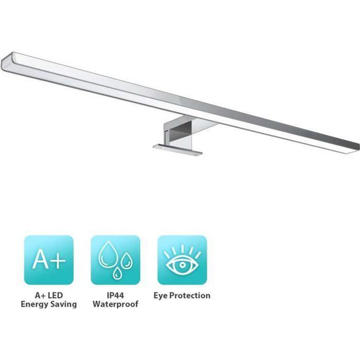 Noir mat IP44-300 mm 220 lm Lampe LED pour miroir de salle de bain 230 V Sans interrupteur