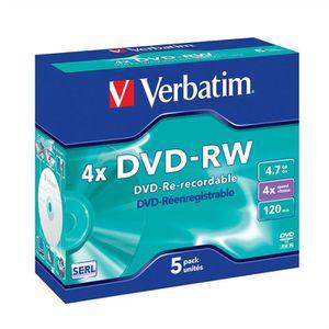 CD - DVD VIERGE Verbatim DVD-RW 4x (5)