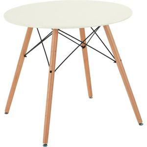 TABLE À MANGER COMPLÈTE Table à manger ronde de 2 à 4 personnes scandinave