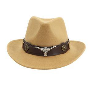 CHAPEAU - BOB chapeau KakiHiver hommes et chapeau de cowboy tiss
