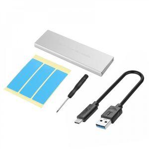 HOUSSE DISQUE DUR EXT. USB 3.1 type-c à NGFF M.2 Key-M boîtier disque dur