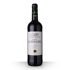 VIN ROUGE Château la Moulière 2014 Rouge 75cl AOC Côtes de D