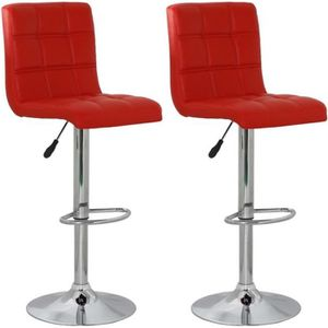 TABOURET DE BAR Lot de 2 de tabourets de bar Salgo Rouge -