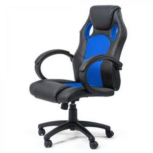 CHAISE DE BUREAU Chaise de bureau fauteuil siège Racing Chair Silve