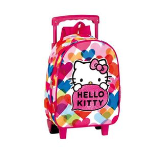CARTABLE Sac à dos à roulettes Hello Kitty  Pretty 28 CM tr