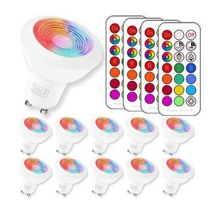 AMPOULE - LED  RGBW Ampoule LED, 3W RGB Spot Lumiere LED Couleur