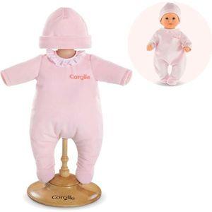 ACCESSOIRE POUPON COROLLE Pyjama Rose pour Poupon 30 cm