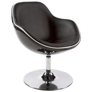 FAUTEUIL Fauteuil design KOK pivotant rotatif noir