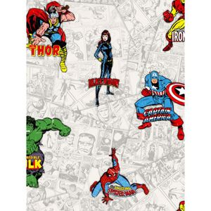 Marvel action heros bande dessinée papier peint 159501 Multi