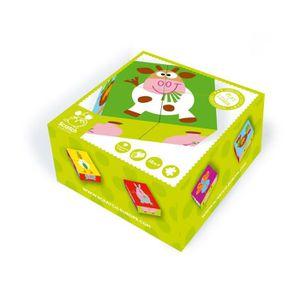PUZZLE SCRATCH Puzzle Ferme En Bois - 4 Blocs