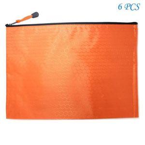 MMY-10 pcs Chemise Paquet Portefeuille Pochette en PVC Zip Document Dossier-Multicolore-Bleu,Vert,Blanc,Rouge,Jaune-B4