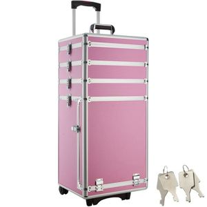 VALISE - BAGAGE TECTAKE Valise Trolley Cosmétique Rigide avec roul