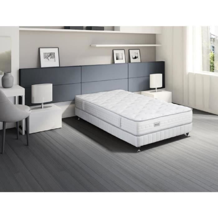 simmons ensemble matelas sommier patio 90x190 cm ressorts 22 cm ferme ressorts sensoft. Black Bedroom Furniture Sets. Home Design Ideas