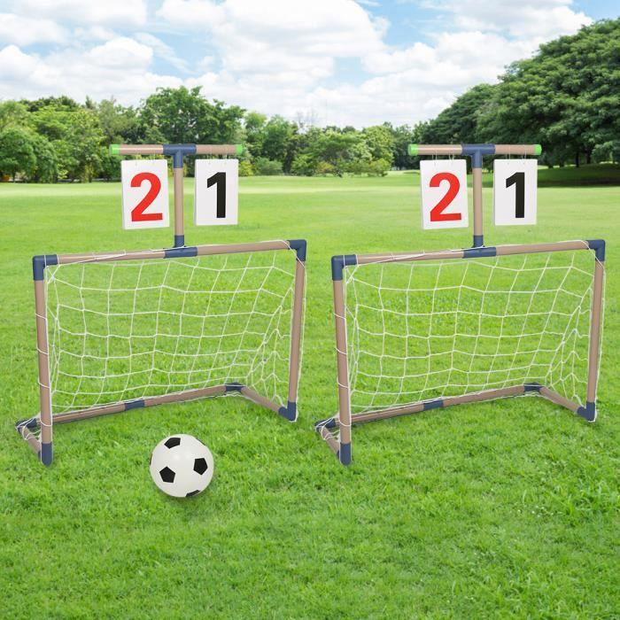 INGMA® 2 Pièces Buts de Foot Enfant Buts de Foot Jardin Cages de Foot Enfant