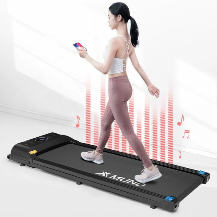 XMUND XD-T1 tapis roulant tapis roulant écran LCD télécommande 12 vitesses haut-parleur Bluetooth équipement de fitness à domicile
