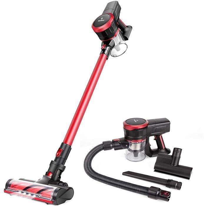 Aspirapolvere MOOSOO senza filu 23Kpa Aspirazione Forte 2 in 1 Aspiratore Stick Ultra-Quiet Handheld cun Motor Brushless K17
