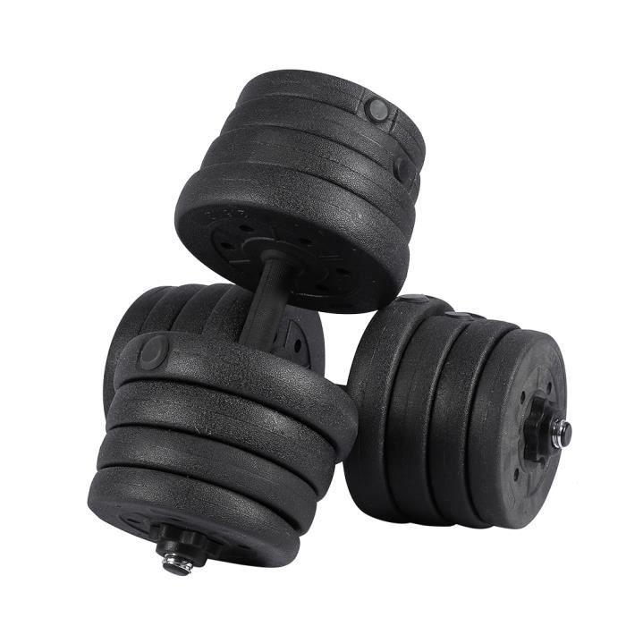2X haltères mis en forme gym poids biceps triceps poids libres formation 30 kg -KEL