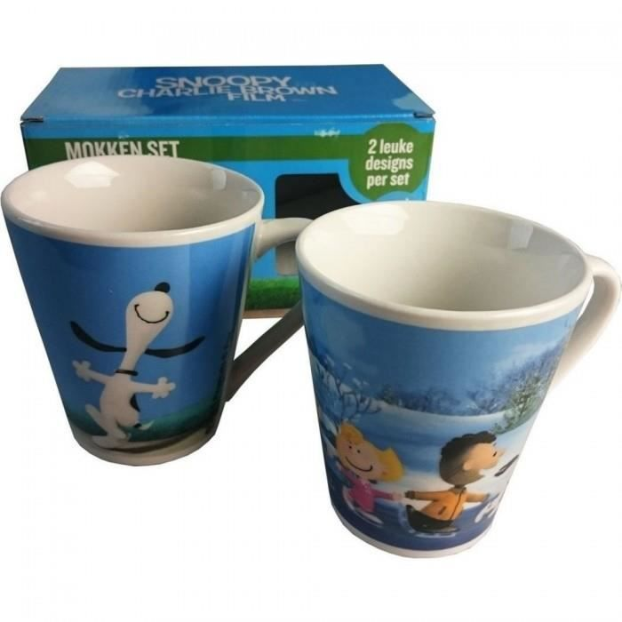Mug enfant Coffret de 2 Mugs Snoopy Charlie Brown