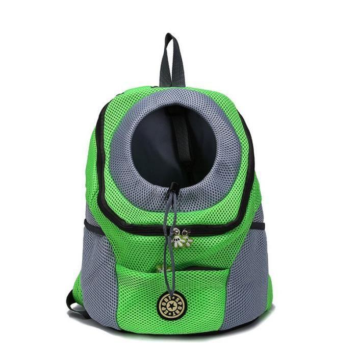 Sac de transport,Sac à dos frontal pour chien chat Animal domestique, sac de voyage pour petits chiens, sac de - Type Green-L