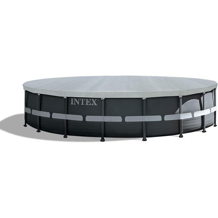 bache piscine INTEX B&acircche de protection Deluxe pour piscine Ø 5,49 M12