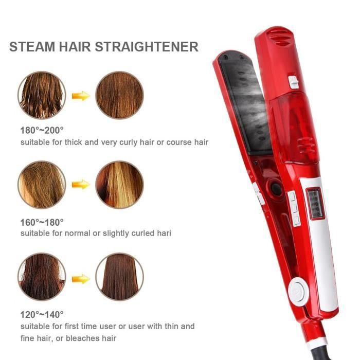 Fer à lisser vapeur fer plat électrique steampod céramique fer à lisser outils de coiffure kemei plaque de redressement gaufrettes