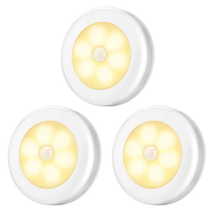 AMIR Lampe Détecteur de Mouvement, Lampes de Nuit, Lampe Escalier Placard ,Détecteur de Mouvement, Éclairage à Piles, Éclairage de