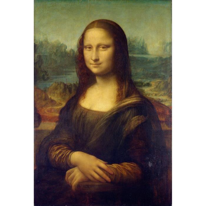 Poster Affiche Mona Lisa La Joconde De Vinci Peinture Historique 61cm x 91cm