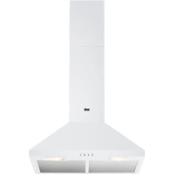 Faure FHC62462WA Hotte hotte décorative largeur : 59.8 cm profondeur : 45 cm evacuation & recyclage blanc