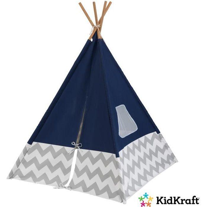 KIDKRAFT - Tipi moderne Bleu marine - Tente de jeu