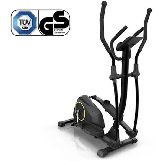 Capital Sports Epsylon Cross AS Vélo elliptique silencieux avec volant d´intertie 12 kg - charge max 120kg - noir