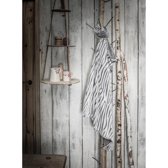 TODAY Plaid Ecorce Chalet - 125 x 150 cm - Gris givré