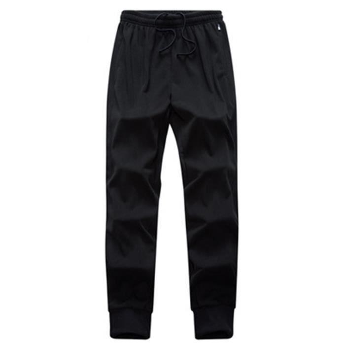Pantalon de jogging Homme sport en baggy Droit Pantalon Homme 100% coton - Noir