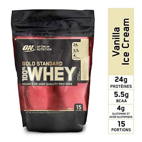 Optimum Nutrition Gold Standard 100% Whey Protéine en Poudre avec Whey Isolate, Proteines Musculation Prise de Masse, Vanille Crème