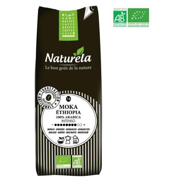 Naturela -250g- Café Moka Ethiopia 100% Arabica Moulu n° 14 Bio