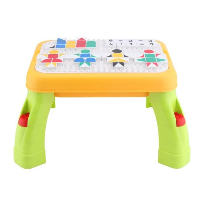 Table d'apprentissage graphique bidimensionnelle pour enfants Durabe Blocks Table de jeu, multicolore