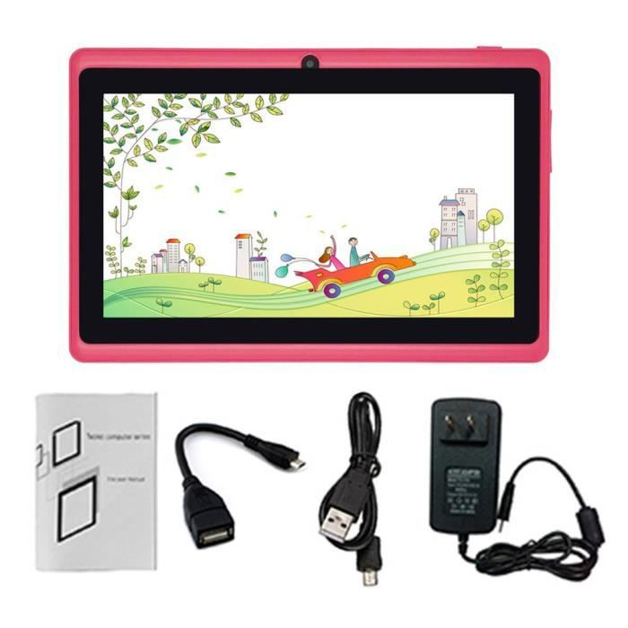 Tablette PC Quad-core 7 pouces 1 Go + 16 Go Android Support TF Card Rose