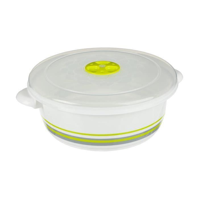 Secret de Gourmet - Cocotte micro ondes 2L D, 23 x H, 8 cm Vert
