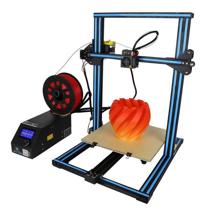 Cr 10S Imprimante 3D Diy Kit Auto assemblage 300*300*400mm Aluminium Cadre+200G Filament soutien Détect Filament Bleu