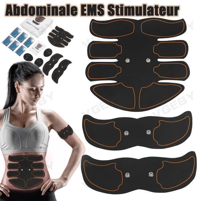 Electrostimulateur Musculaire EMS Ceinture Abdominale Stimulateur Musculaire pour Abdominale-Bras-Fesses Nouveau HB034