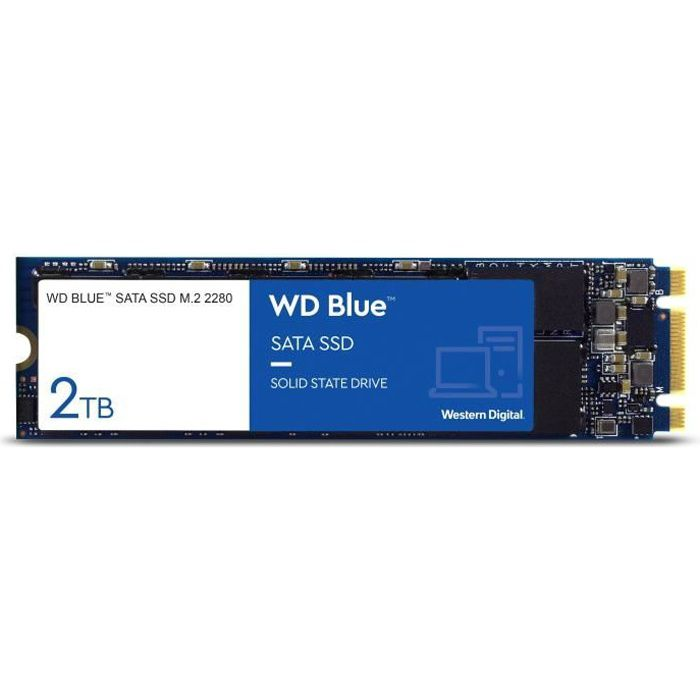 WD Disque dur Blue™ SSD - 3D Nand - Format M.2/2280 - 2To