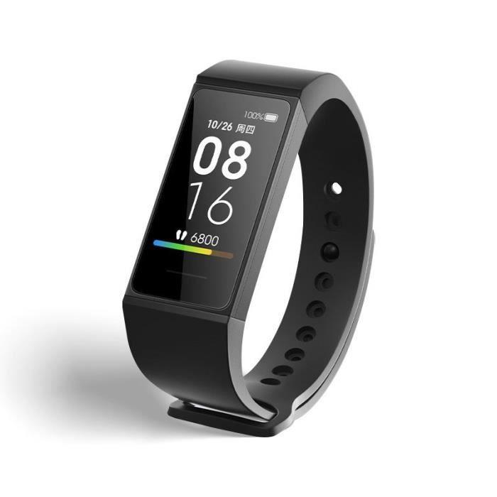 Montre Connectee Xiaomi Redmi Sport Intelligent Bracelet avec Surveillance Du Sommeil Pédomètre Fréquence Cardiaque - Noir