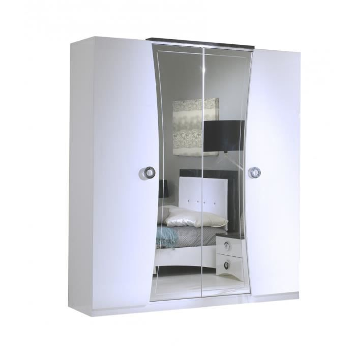 armoire 4 portes blanc achat vente armoire 4 portes. Black Bedroom Furniture Sets. Home Design Ideas