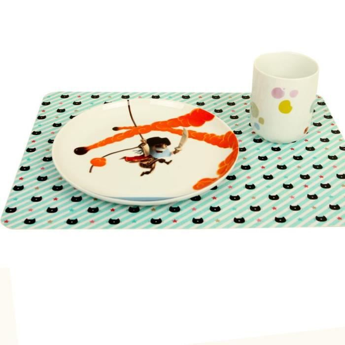 Set de table chat minilabo entierement plastifie protege - Set de table plastifie ...