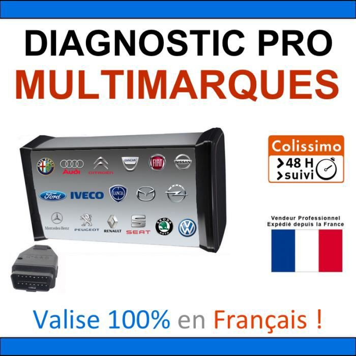valise de diagnostic pro multimarques mpm com vag com vas diagbox pp2000 can clip bosch kts. Black Bedroom Furniture Sets. Home Design Ideas