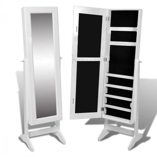 armoire bijoux rangement miroir meuble chambre large. Black Bedroom Furniture Sets. Home Design Ideas