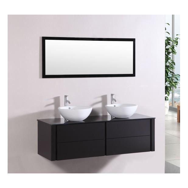 magnifique meuble de salle de bain complet polka wenge ensemble salle de bain meuble 2. Black Bedroom Furniture Sets. Home Design Ideas