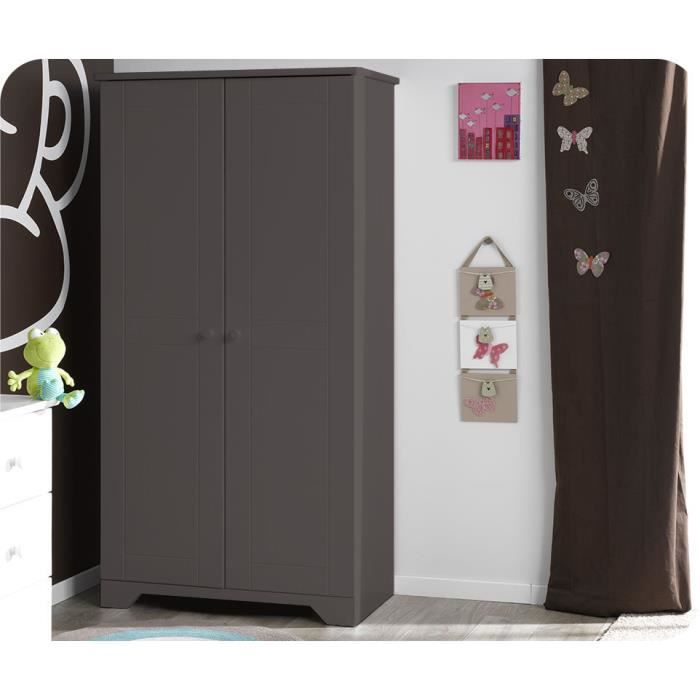 armoire enfant nature taupe achat vente armoire. Black Bedroom Furniture Sets. Home Design Ideas