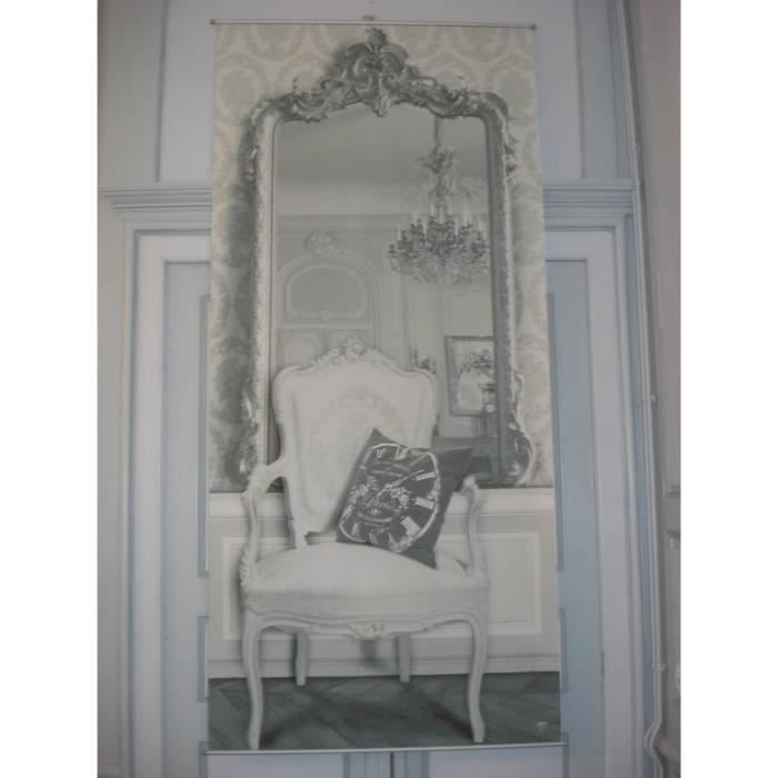 toile panneau trompe l 39 oeil le miroir achat vente. Black Bedroom Furniture Sets. Home Design Ideas