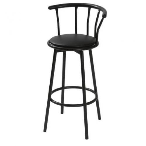 tabouret de bar gora noir achat vente tabouret de bar. Black Bedroom Furniture Sets. Home Design Ideas